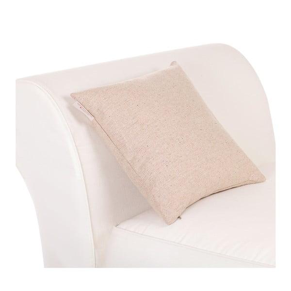 Vlněný polštář Tweed 40x40 cm, krémový