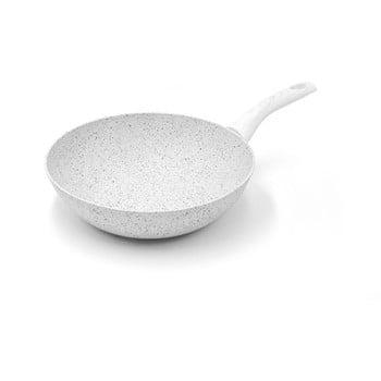 Tigaie WOK cu mâner argintiu Bisetti Stonewhite Dario, ø 28 cm de la Bisetti