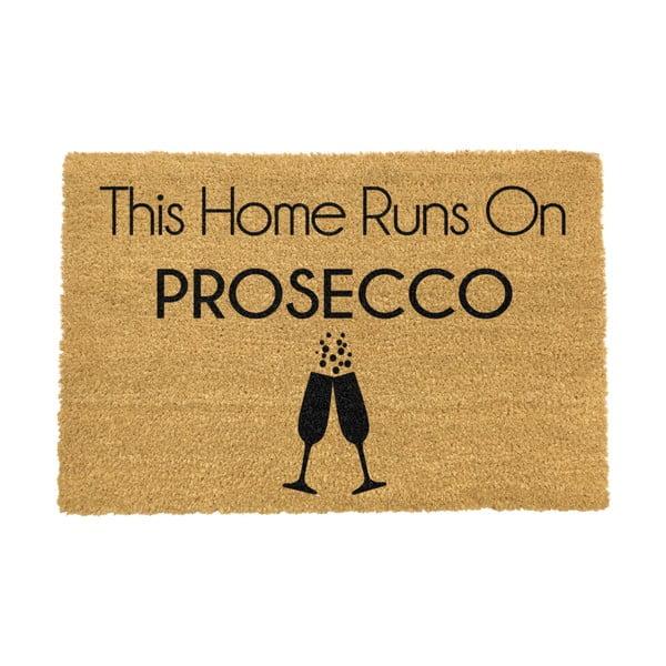 Rohožka z přírodního kokosového vlákna Artsy Doormats This Home Runs On Prosecco,40x60cm