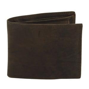 Tmavě hnědá kožená peněženka Friedrich Lederwaren Hunter