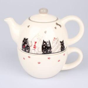 Set ceramic pentru ceai Dakls Cats