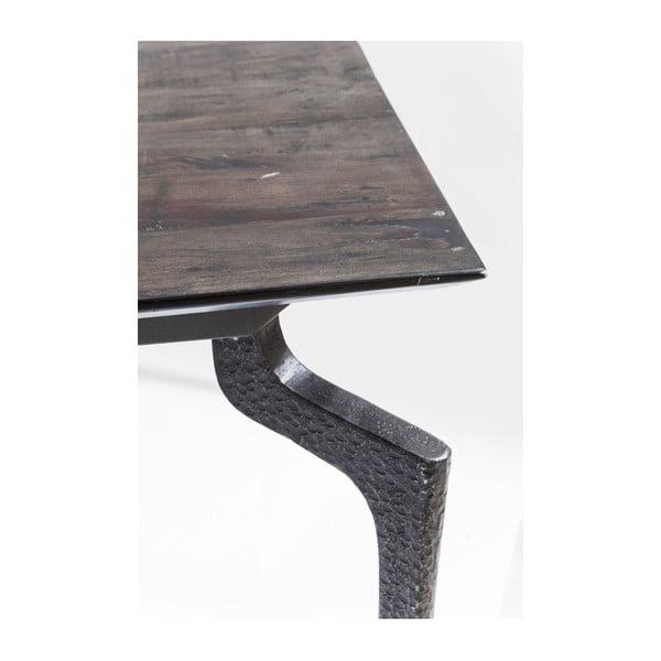 Černý jídelní stůl z recyklovaného dřeva Kare Design Boston, 200 x 90 cm