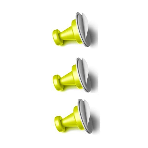 Sada 3 zelených magnetických háčků Reenbergs Multiple
