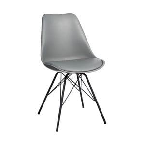 Šedá židle s černým podnožím Ixia Room