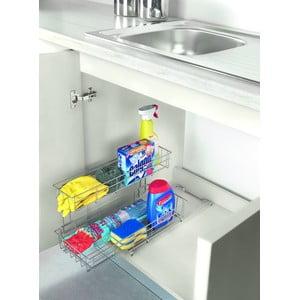 Suport cu două etajere pentru dulapul de bucătărie Metaltex Limpio