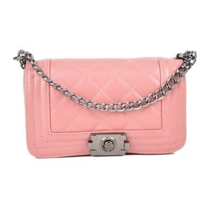 Růžová kožená kabelka Isabella Rhea Vivien