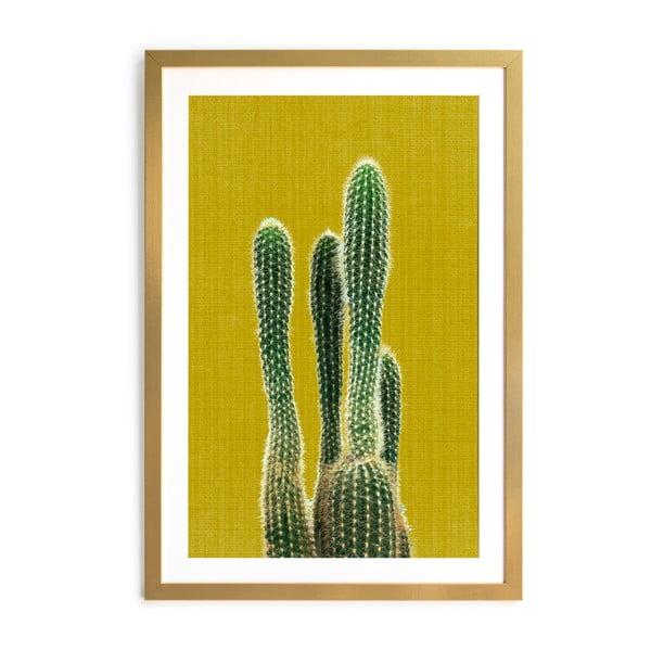 Obraz Surdic Mustard Background Cactus, 40×60cm