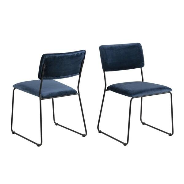 Ciemnoniebieskie krzesło Actona Cornelia
