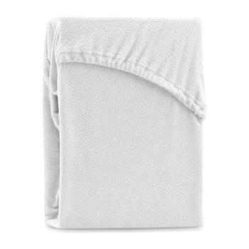 Cearșaf elastic pentru pat dublu AmeliaHome Ruby White, 220-240 x 220 cm, alb imagine