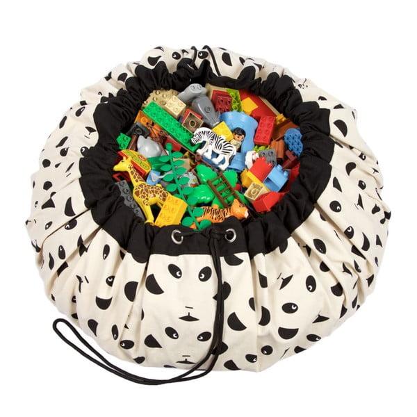 Hrací podložka a pytel na hračky v jednom Play & Go Panda
