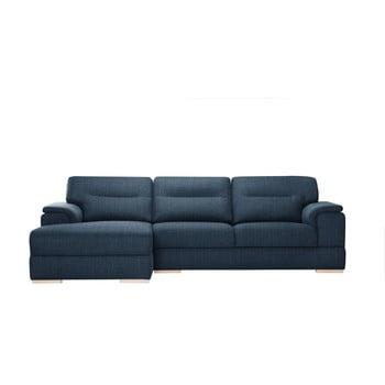 Canapea pe colț Stella Cadente Maison Madeiro pe partea stângă albastru denim