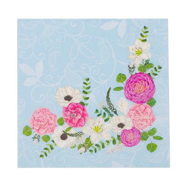 Zestaw 16 papierowych serwetek GiviItalia Secret Garden, 33x33 cm