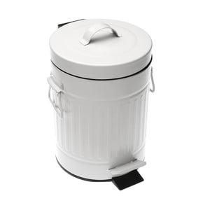 Bílý odpadkový koš Versa Metal Bin, 3 l