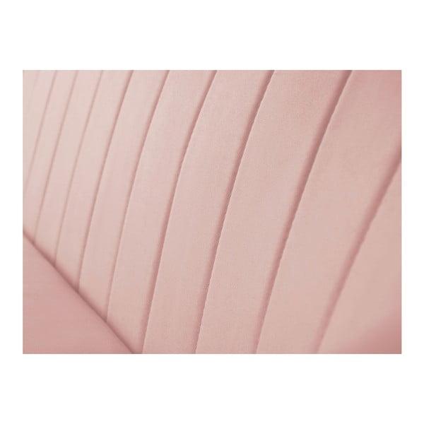 Světle růžová dvoumístná pohovka se světlými nohami Mazzini Sofas Sardaigne
