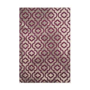 Fialový koberec Webtappeti Evergreen,92x152cm