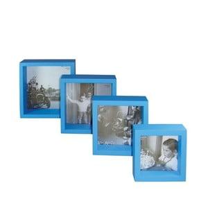 Set 4 dřevěných fotorámečků Paris Blue