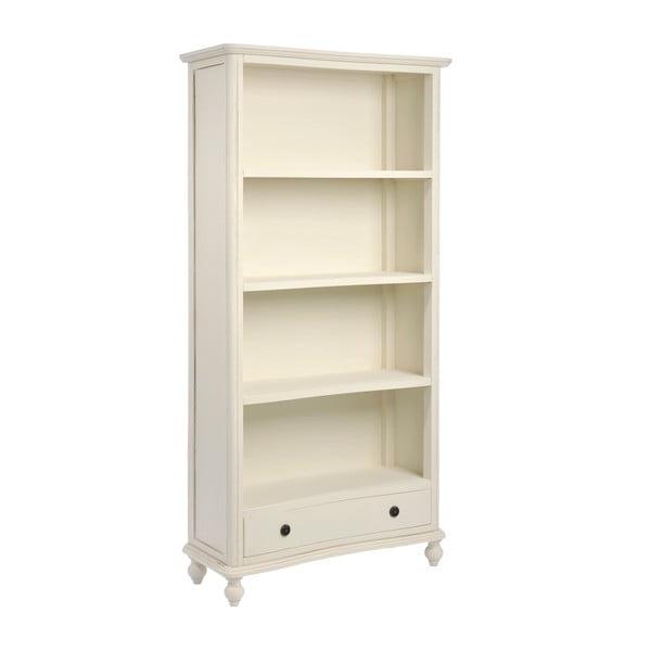 Dřevěná knihovna Cream, 180 cm