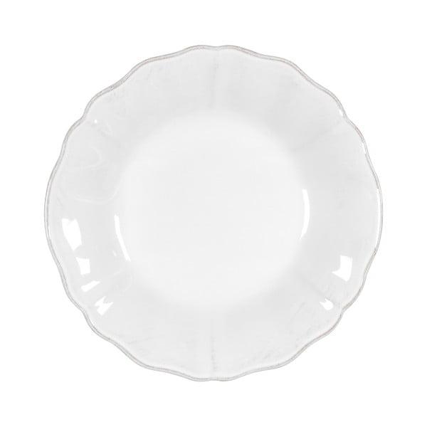 Bílý kameninový polévkový talíř Costa Nova Alentejo, ⌀24cm