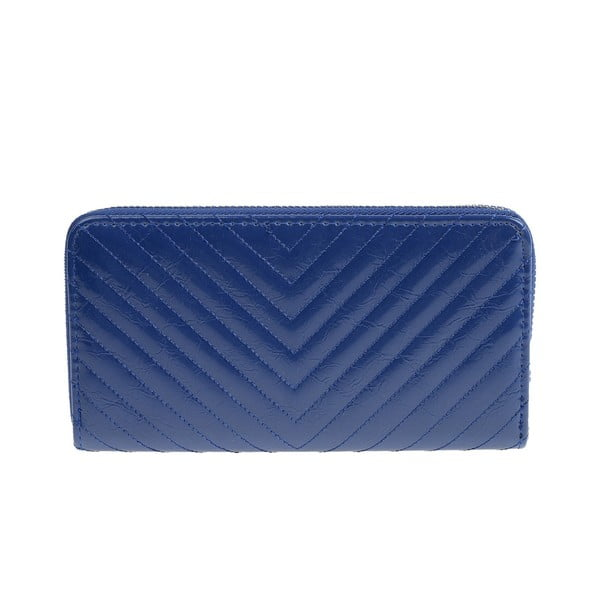 Švestkově modrá koženková peněženka Carla Ferreri