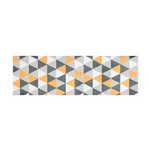 Žlutě vzorovaný běhoun White Label Geo, 150 x 50 cm