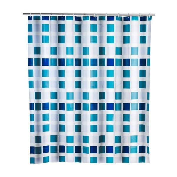 Mosaic kék zuhanyfüggöny, 180 x 200 cm - Wenko