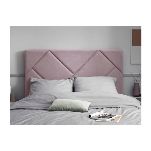 Růžové čelo postele HARPER MAISON Annika, 140 x 120 cm