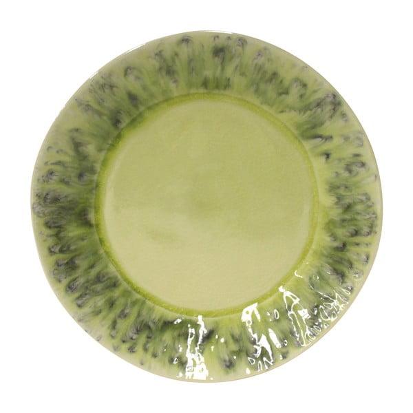 Zelený kameninový talíř Costa Nova Madeira, ⌀27cm