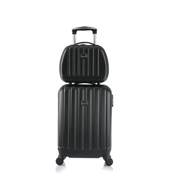 Černý cestovní kufr s příručním zavazadlem Bluestar