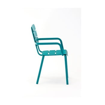 Set 4 scaune de grădină cu cotiere Ezeis Alicante, albastru