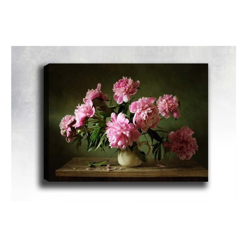 Nástěnný obraz na plátně Tablo Center Pink Roses, 40 x 60 cm