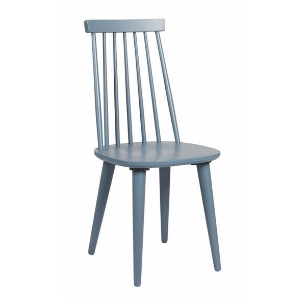 Niebiesko-szare krzesło do jadalni z drewna kauczukowca Rowico Lotta