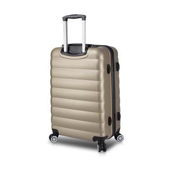 Valiză cu roți și port USB My Valice COLORS RESSNO M, auriu de la Myvalice