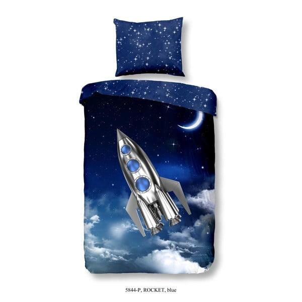 Lenjerie de pat pentru copii din bumbac pur Good Morning Rocket, 140x200cm