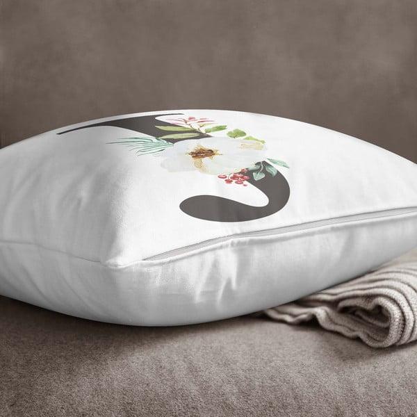 Față de pernă Minimalist Cushion Covers Floral Alphabet J, 45 x 45 cm
