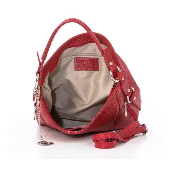 Kožená kabelka Pedro, červená