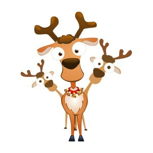 Vánoční samolepka Ambiance Christmas Reindeer