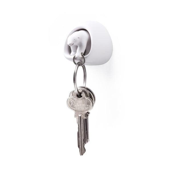 Biały haczyk na klucze Qualy&CO Polar Bear