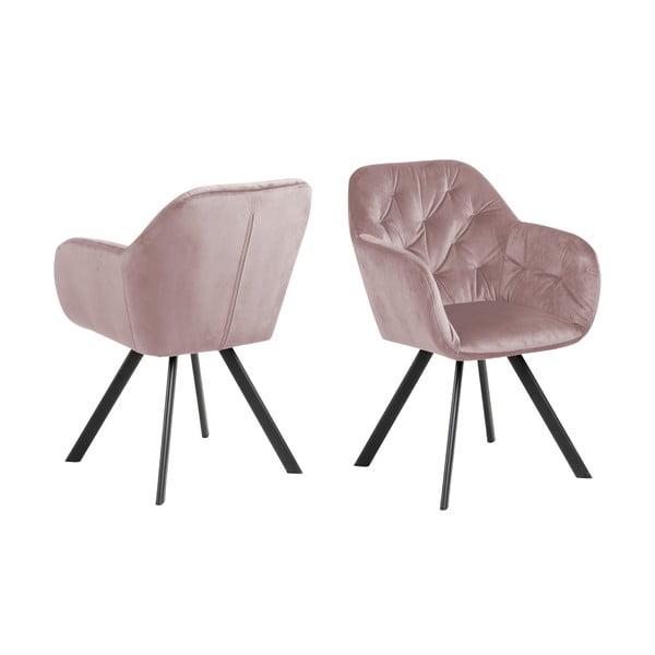Różowy fotel Actona Lola