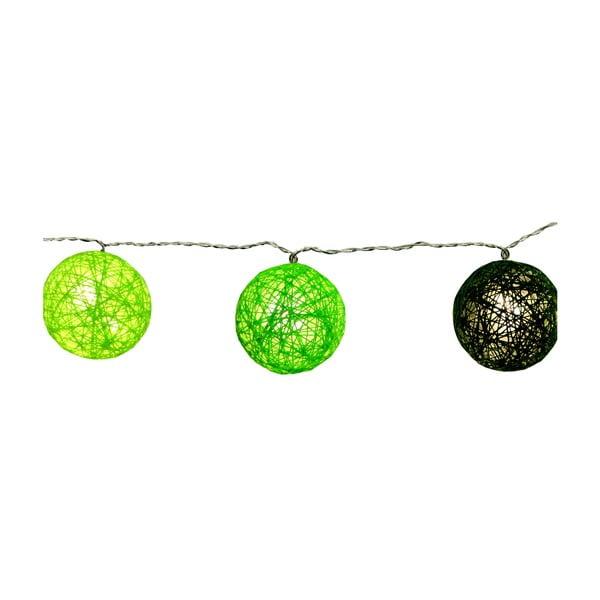 Zelený světelný LED řetěz Best Season Jolly Lights, 10 světýlek
