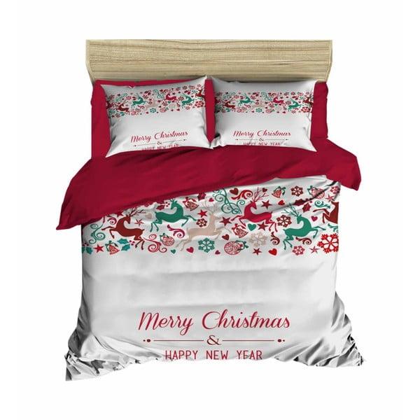 Elias karácsonyi, kétszemélyes ágyneműhuzat lepedővel, 200 x 220 cm