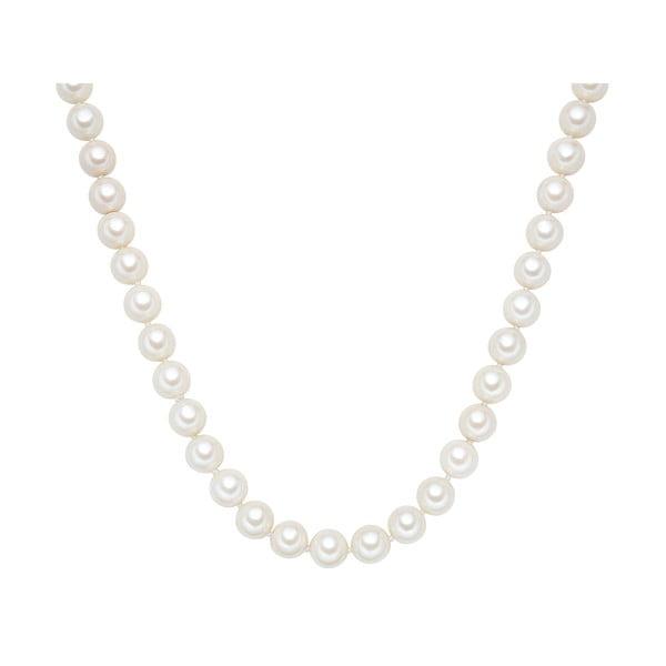 Náhrdelník s bílými perlami Perldesse Muschel, ⌀1,2xdélka90cm