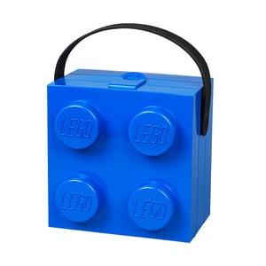 Cutie depozitare LEGO cu mâner, albastru