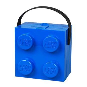 Cutie depozitare LEGO® cu mâner, albastru de la LEGO®