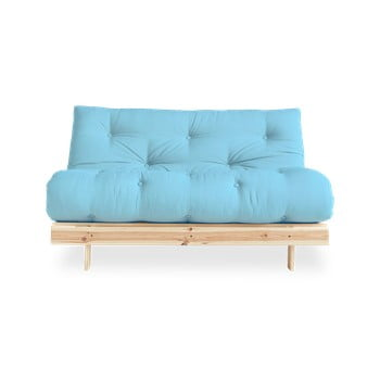 Canapea extensibilă Karup Design Roots Raw/Light Blue