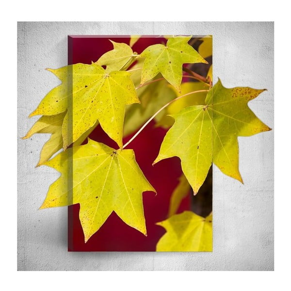 Nástěnný 3D obraz Mosticx Yellow Autumn Leafes, 40 x 60 cm