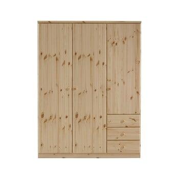Dulap din lemn de pin Steens Ribe, 202 x 150,5 cm, maro imagine