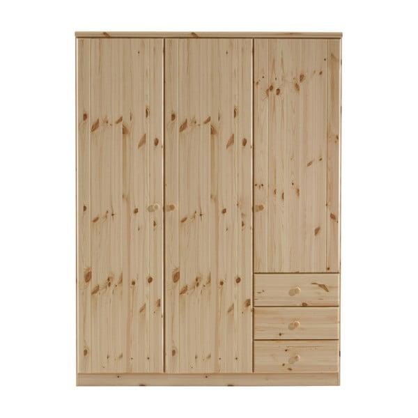 Ribe barna borovi fenyőfa ruhásszekrény, 202 x 150,5 cm - Steens