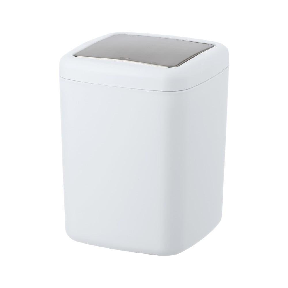 Bílý odpadkový koš Wenko Barcelona S, výška 20 cm