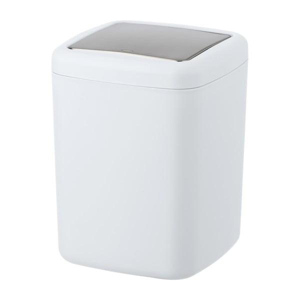 Biely odpadkový kôš Wenko Barcelona S, výška 20 cm