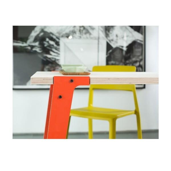 Oranžový jídelní/pracovní stůl rform Switch, deska 122x63 cm
